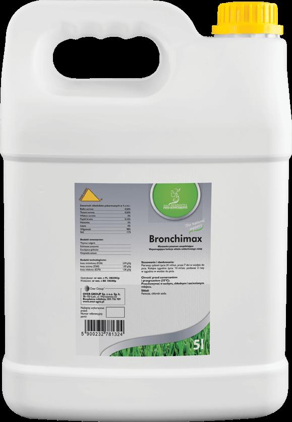 Preparat osłonowy i wspomagający układ oddechowy cieląt Bronchimax