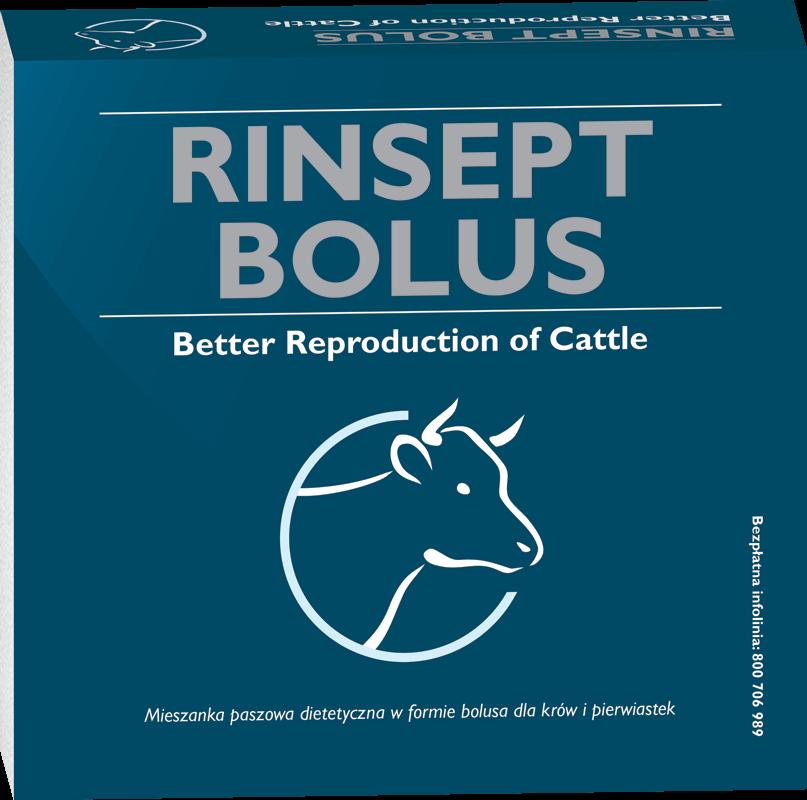 Bolus dla krów ułatwiający wydalenie łożyska Rinsept bolus.