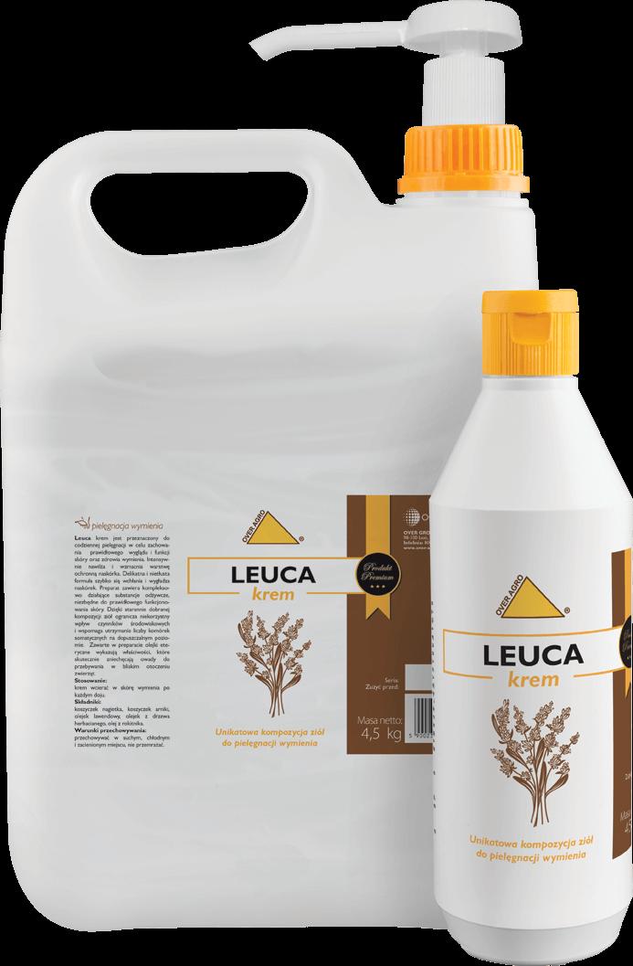 Unikatowa kompozycja ziół do pielęgnacji wymienia Leuca krem.