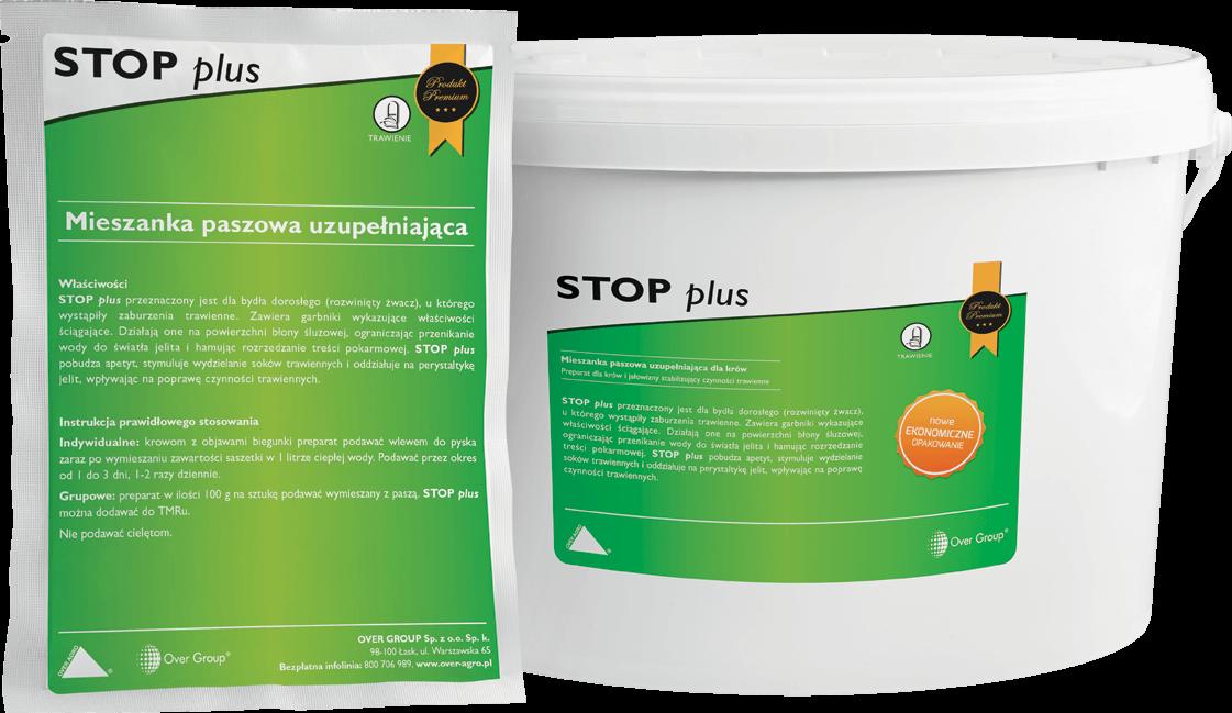 Ziołowy preparat przeciw biegunkom dla krów i jałowizny Stop plus.